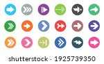 Arrow Sign Icons Set. Colorful...
