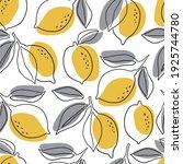 Fresh Lemons Print. Hand Drawn ...