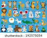 collection funny wild and... | Shutterstock .eps vector #192575054