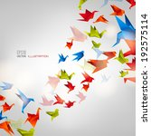 origami paper bird on abstract... | Shutterstock .eps vector #192575114
