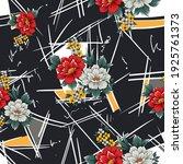 seamless flower pattern on... | Shutterstock .eps vector #1925761373