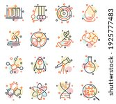 set of science elements icon.... | Shutterstock .eps vector #1925777483