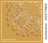 lace invitation card template... | Shutterstock .eps vector #1925779850