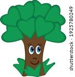 cute cartoon tree with hearts... | Shutterstock .eps vector #1925780249