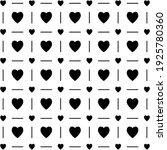 black heart seamless pattern on ... | Shutterstock .eps vector #1925780360