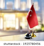 turkey flag on the reception... | Shutterstock . vector #1925780456