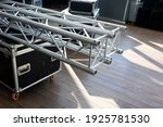 Stack Of Metal Trusses For...