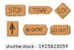 vintage wooden signboards... | Shutterstock .eps vector #1925823059