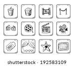 cinema icons   Shutterstock .eps vector #192583109