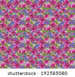 colorful floral seamless... | Shutterstock . vector #192585080