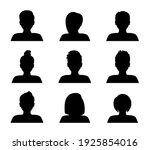 set of silhouette avatars. male ... | Shutterstock .eps vector #1925854016