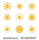sun icons. sun yellow symbol... | Shutterstock .eps vector #1925854049