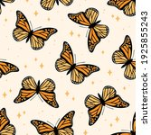 Seamless Pattern With Monarch...