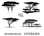 silhouette of africa trees... | Shutterstock .eps vector #192586304