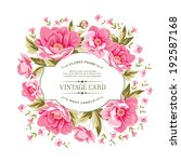 luxurious vintage card of color ... | Shutterstock .eps vector #192587168