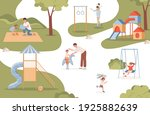 men walking and playing with...   Shutterstock .eps vector #1925882639