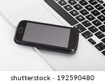 business smartphone on the... | Shutterstock . vector #192590480