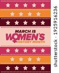 women's history month.... | Shutterstock .eps vector #1925916236