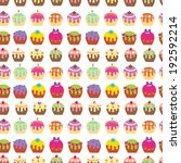 cup cake seamless pattern | Shutterstock .eps vector #192592214