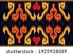 ikat geometrical line pattern... | Shutterstock .eps vector #1925928089