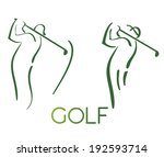 green golf icons silhouette... | Shutterstock .eps vector #192593714