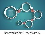 gears vector background for... | Shutterstock .eps vector #192593909