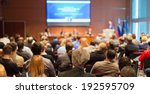 business conference and... | Shutterstock . vector #192595709