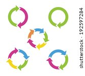 colorful cycle arrows. vector... | Shutterstock .eps vector #192597284