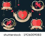 hearts and cupids sweet romance ... | Shutterstock .eps vector #1926009083
