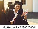 Young Happy University Graduate ...