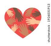 hands in hearts  charity ... | Shutterstock .eps vector #1926031913