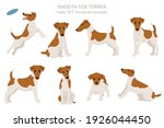 smooth fox terrier clipart.... | Shutterstock .eps vector #1926044450
