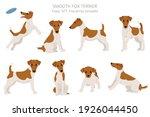 smooth fox terrier clipart.... | Shutterstock .eps vector #1926044450