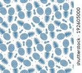 vintage pineapple seamless for... | Shutterstock .eps vector #192605000