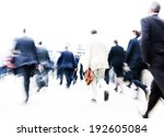 people rushing to work. | Shutterstock . vector #192605084