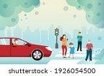 pedestrians all aged wearing...   Shutterstock .eps vector #1926054500