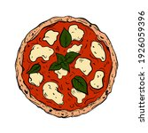 traditional italian pizza.... | Shutterstock .eps vector #1926059396