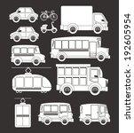 transport design over gray... | Shutterstock .eps vector #192605954