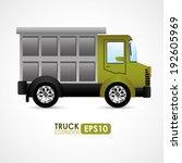 transport design over white... | Shutterstock .eps vector #192605969
