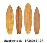 Vintage Wood Surfboard Isolated ...