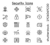 security icons set in thin line ... | Shutterstock .eps vector #1926069230