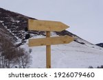 Wooden Signpost In The...