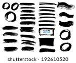 brush lines set. vector... | Shutterstock .eps vector #192610520