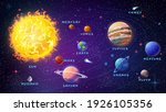 planets of solar system with... | Shutterstock . vector #1926105356