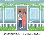 young happy family outside new...   Shutterstock .eps vector #1926105650