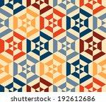 seamless vector geometric strip ... | Shutterstock .eps vector #192612686