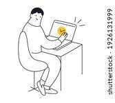 remote job  job done well  do... | Shutterstock .eps vector #1926131999