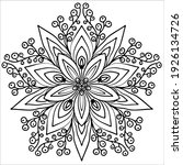 snowflake  coloring in a... | Shutterstock .eps vector #1926134726