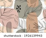 tropical leaves hand drawn...   Shutterstock .eps vector #1926139943