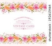 border of flowers in vintage... | Shutterstock .eps vector #192615464